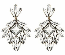 Paar Ohrhänger »Burcu« gold / weiß