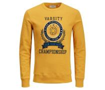 Varsity Print Sweatshirt gelb