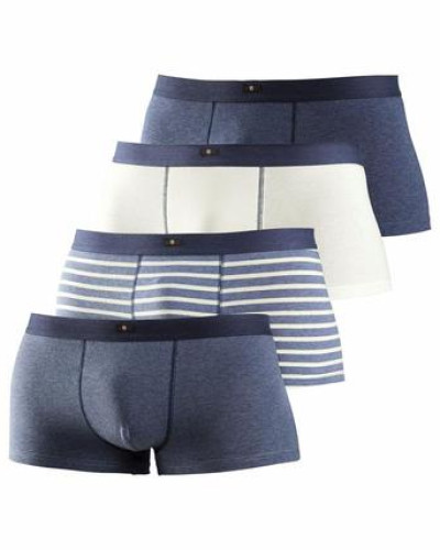Hipster (4 Stück) blau / marine / graumeliert / weiß