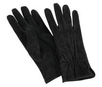 Lederhandschuhe »mit Gummizug am Handgelenk« schwarz