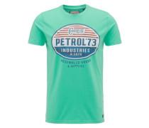 T-Shirt blau / kiwi / rot