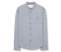 Hemd 'heather melange' blau