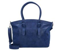 'Ivett Vintage' Shopper Tasche 48 cm blau