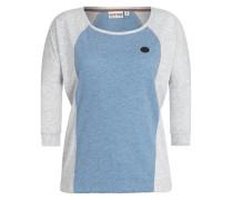 T-Shirt 'Purger mit Burger' hellblau / hellgrau