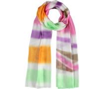 Seiden-Schal mint / helllila / orange / rosa / weiß