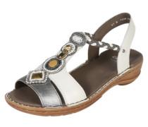 Sandalette 'haw' gold / silber / weiß