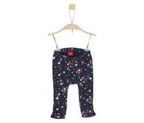 Jersey-Leggings mit süßem Print dunkelblau / pink / weiß