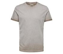 T-Shirt Rundhalsausschnitt - beige