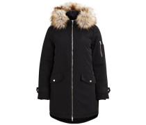 Mantel Daunen schwarz