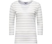 Shirt 'cameo C-Nk TOP 3/4 Slv' silber / weiß