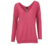 V-Pullover pink