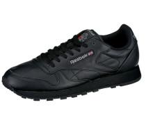 Leather Sneaker schwarz