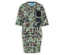Kleid in Camouflage khaki