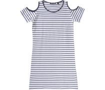 Kinder Jerseykleid dunkelblau / weiß