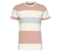 Shirt 'SS O-Neck Tee' hellblau / rosa / weiß