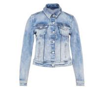 Jeansjacke aus Candiani Denim hellblau
