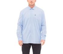 Regular: Oxfordhemd mit Waschung hellblau