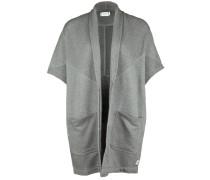 Sweatshirtweste mit Schalkragen grau
