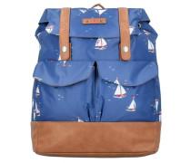 'Palatschinken Daypack' Rucksack 40 cm blau / braun