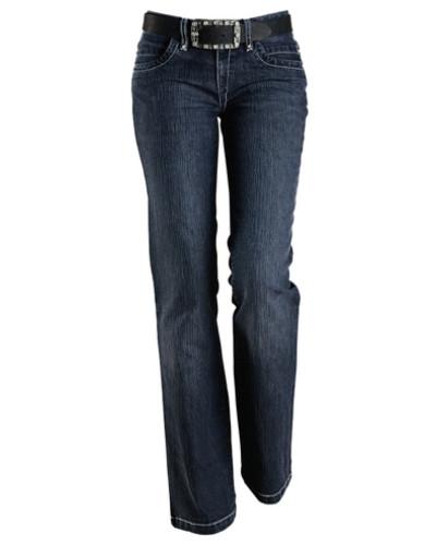 cheer damen cheer bootcut jeans blau reduziert. Black Bedroom Furniture Sets. Home Design Ideas