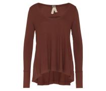 Oversized Shirt 'Malibu' braun