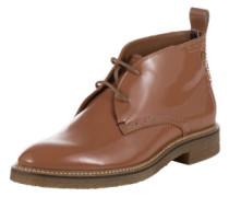 TOMMY HILFIGER Desert Boots aus Lackleder 'Beritt 2P' braun