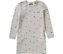 Kinder Sweatkleid graumeliert / weiß
