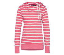 Sweater 'beat Stripes' pink / weiß