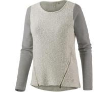 Sweatshirt grau / wollweiß
