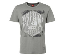T-Shirt mit Wording-Print grau
