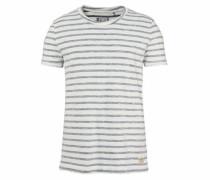 T-Shirt taubenblau / naturweiß