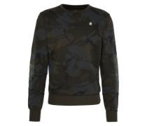 'Sweatshirt' dunkelgrau / oliv