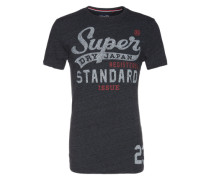 T-Shirt 'Standart Issue Tee' blau / grau