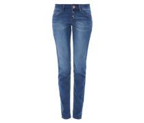 Shape Slim: Jeans mit Knopfleiste blau
