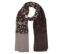 Schal mit Print grau / dunkelgrau / altrosa