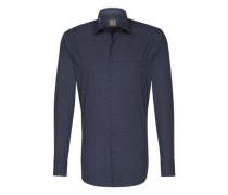 City-Hemd ' Tailored ' blau / grau