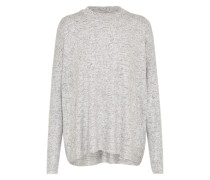 Oversized Pullover silbergrau