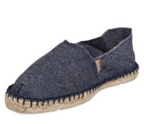 Espadrilles im Jeans-Look blau / dunkelblau / weißmeliert