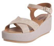 Wildleder-Sandalen beige
