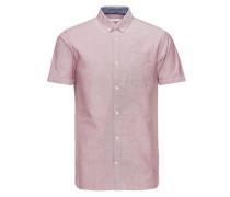 Kurzarmhemd Klassisch pink