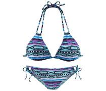 Triangel-Bikini blau / mint / fuchsia
