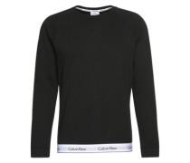 Unifarbenes Sweatshirt schwarz