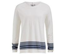 Shirt 'tash' marine / weiß