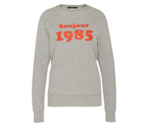 Sweatshirt mit Typo-Print grau