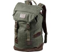 'Tinder Daypack' Rucksack braun / grasgrün