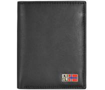 Mandal Geldbörse Leder 10 cm schwarz