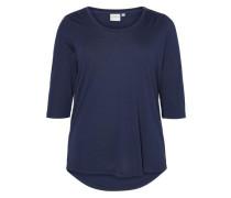 3/4-ärmelige Bluse blau