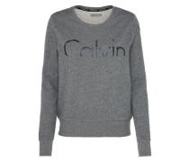 Sweatshirt 'hadar CK Logo' graumeliert