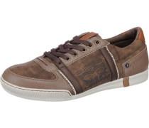'Tioga' Sneakers braun / karamell / dunkelbraun / weiß