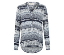 Leichte Tunika-Bluse blau / weiß